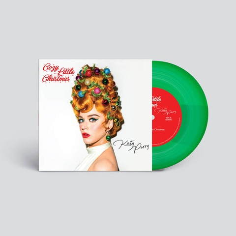 Cozy Little Christmas by Katy Perry - Translucent Green 7Inch Vinyl - shop now at Katy Perry store