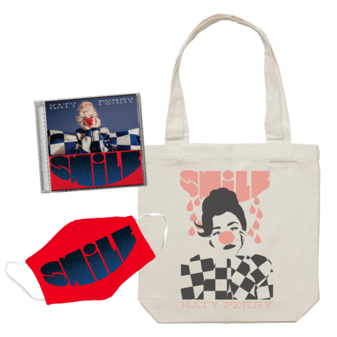 Smile (Deluxe CD + Tote Bag + Mask) von Katy Perry - CD Bundle jetzt im Katy Perry Shop